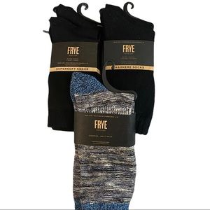 FRYE 6 Pair Socks, Crew, Cashmere & Bootcut NWT